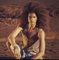 Natural Hair Long Curly hair Cohé P. Pinterest:@keraavlon