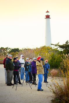 Autumn photographers. Fall, Cape May Point, Ocean City, Jersey Cape, Cape May County, New Jersey