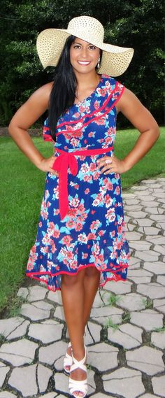 I found this on www.rmcjewelry.com Holiday Summer Dress Floral High Low Dress