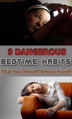 9 Dangerous Bedtime Habits That You Should Always Avoid!