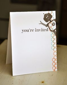 Robot Invitation by Maile Belles for Papertrey Ink (December 2014)