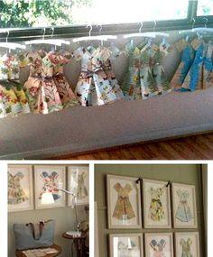 Marcelle Crosby paper dress art