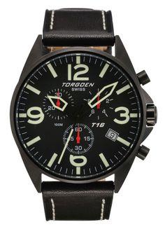 TORGOEN Swiss Watch T-16 Series  http://www.racewatches.com/Torgoen_T16.html