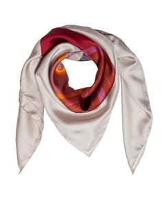 Scarf in silk with cirle print.