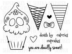 Deadly Desserts stamp set. scrapbooking, cardmaking, handmade card, shop.serenabee.com