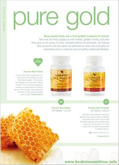Busy honey bees are a true golden treasure of nature. Not only do they provide us with sweet golden honey, but they also give us an array of valuable active components. http://www.aloeforever-gh.myforever.biz/