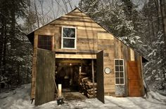 Bixby's Best sugar shack in Bolton Landing, New York. Hand-built timber frame recently completed for the 2013 sugaring season. (From Cabin Porn)  More pictures here.Photo submitted by David Cummings
