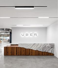 Should your employees hear what's going on at the front desk? Think with your ears as well. For hidden sound absorbing options contact us at www.silent-place.com   Uber Modern Office Reception Desk/Lobby Design | by Studio O+A