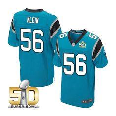 Carolina Panthers #56 AJ Klein Blue 2016 Super Bowl 50 Bound Elite Jersey