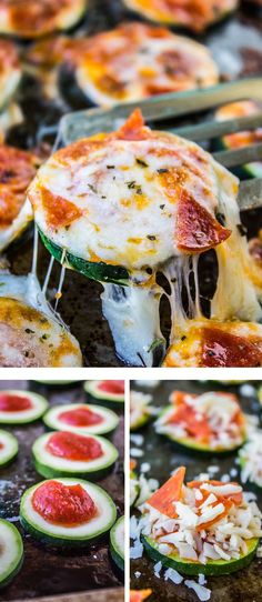 Zucchini Pizza Bites from The Food Charlatan // These EASY, 15 minute appetizers or snacks are the perfect way to use up your zucchini! Sometimes I even call it dinner...