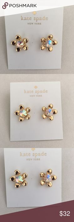 Kate spade ab crystal flower earrings Sparkly and fabulous!! New no tags or box Jewelry Earrings