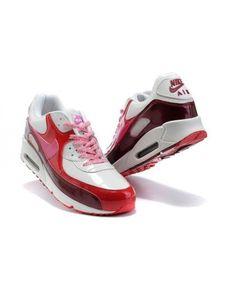 size 40 56cbb 18101 Air Max 90 Homme Chaussure Pas Cher Gros Red Blanc Nike01587