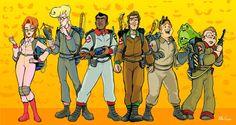 cartoons costumes The Real Ghostbusters by mikeysammiches Ghostbusters Characters, Ghostbusters The Video Game, Extreme Ghostbusters, Old Cartoons, Classic Cartoons, Saturday Morning Cartoons 80s, Cartoon Costumes, Nerd Love, 80 Cartoons
