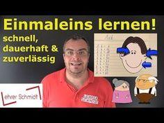 (8) Einmaleins (1x1) lernen! Schnell, dauerhaft & zuverlässig! - YouTube Montessori Materials, Youtube Stars, Math Games, Teaching Math, School Projects, Kids And Parenting, Kids Learning, Back To School, Homeschool