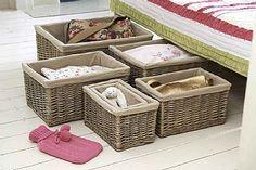 Lined Newspaper Basket