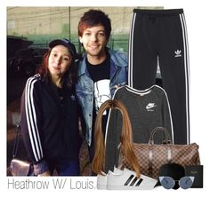 """""""Lou"""" by idaln ❤ liked on Polyvore featuring adidas Originals, NIKE, Louis Vuitton, adidas, Flexfit, FOSSIL, Fendi, OneDirection, louistomlinson and onedirectionoutfits"""