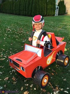 Blaze the Monster Machine and AJ his Driver - Halloween Costume Contest via @costume_works