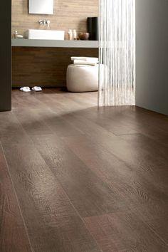 Wood Floor Tile - Porcelain Hardwood Flooring »  bathroom featuring porcelain wood look tile