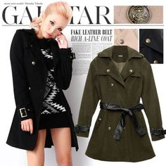 Rakuten: faux lether belt coat $20.35