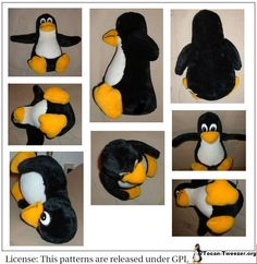 Time to play with yours kids - Tux soft toy self made.