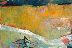'Mendham Marsh' by Mary Newcomb, 1960 (oil on hardboard) Abstract Landscape Painting, Landscape Paintings, Abstract Art, Orange Wall Art, Tate Gallery, Art Uk, Your Paintings, Contemporary Artists, Painting & Drawing