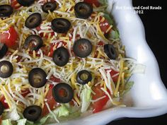 Taco Dip Recipe... Fast and easy appetizer for New Years!