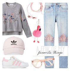 """""""Casual chic"""" by metisu-fashion ❤ liked on Polyvore featuring Bliss and Mischief and adidas"""