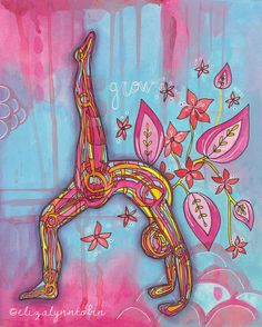 Yoga Art Grow Print by ElizaTobin on Etsy