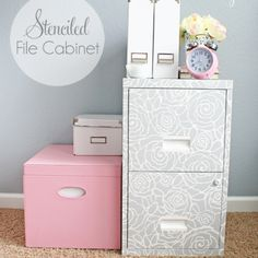 Updating a sewing cabinet with paint. Painting furniture. Painting laminate furniture.