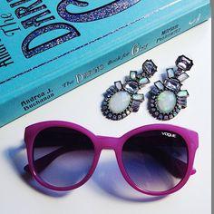 Pop of color | #vogueeyewear #stylemiles #fashion #beauty #lifestyle #inspiration #sunglasses