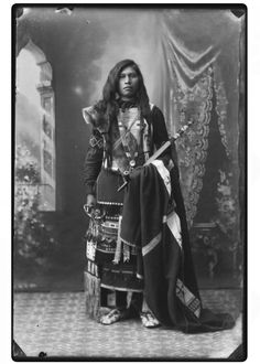 Native American Indian portrait.  I can see sadness in the eyes of this young man.  I do hope that he was comforted in any grief he may have experienced & was freed from any troubles he had.