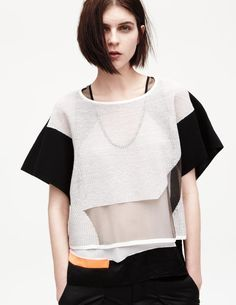 Sheer Geometry, this is a perfect example of Helmut Lang's unique garment construction.