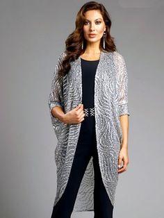 4320bc2c0d Frank Lyman Metallic Cocoon Sweater -  188 Cocoon Sweater