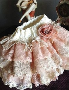 2015 easter Vintage Lace Ruffled skirt,Flower Girll ivory peach pink by Rosanna Hope  for Babybonbons - LoveItSoMuch.com