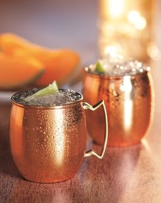 Melon Mule Recipe: A twist on a classic, this delicious blend of sweet and spice highlights the full ripeness of the Cavaillon melon.