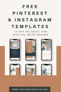 Looking to make your business look more professional and on brand? Grab these FREE Instagram templates for Canva! Brand Identity Design, Branding Design, Logo Templates, Templates Free, Improve Yourself, Create Yourself, Business Journal, Business Tips, Instagram Templates