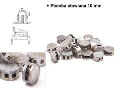 Plomba ołowina 10mm, #plomba_ołowiana #plomba_do_plombownic