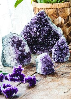 These beautiful Amethyst clusters feature a flat cut base, allowing them to stand boldly upon any surface-top and filling any space with its balance and clam inducing energies. These are the perfect l