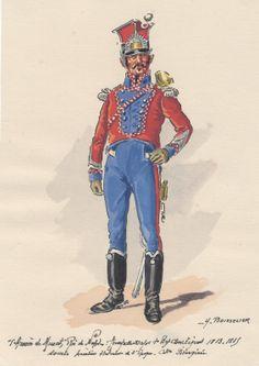 Kingdom of Naples Trumpet Major 1st Regt Chevaulegers 1813-15
