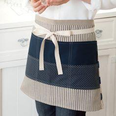 料理上手に見える おしゃれなギャルソン風エプロンの作り方(布小物) | ぬくもり