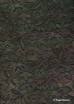 Crafty Paper - Embossed Foil Bloom - Black with Gunmetal Foil, $2.80 (http://www.craftypaper.com.au/embossed-foil-bloom-black-with-gunmetal-foil/)