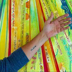 Play! Temporary Manifestation Tattoos. Conscious Ink. www.ConsciousInk.com