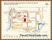 Map Of Weiyang Palace Site Xian China Tourist Map City Layout Xi An