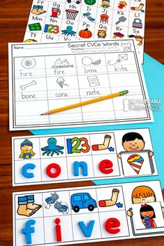 This secret code activity will get your little investigators spelling CVCe words by identifying the beginning sound of each picture to spell the word. Students say the name of each picture on the mat to identify the beginning sound. They will place a magnetic letter on the mat to show the beginning sound of each picture, therefore spelling a CVCe word and match the corresponding picture card to their mat. Optional recording sheets are included.
