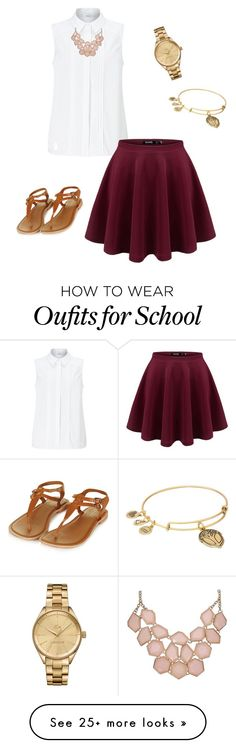 """""""School Outfit"""" by canntap on Polyvore featuring John Lewis, Alex and Ani, Lacoste and Topshop"""