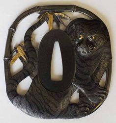 Ford Hallam katsuhira's tiger tsuba. A crafts treasure.