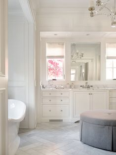 Classic white marble bathroom