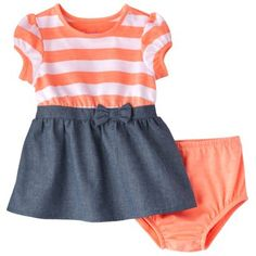Cherokee® Newborn Infant Girls' Short-Sleeve Dress Set...so wanting to get this dress for my BG :)
