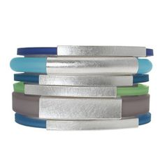 Bracelet Silver-Plated 6Pc, $269, now featured on Fab.   Silver Plated Brass And PVC