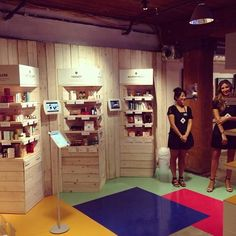 From Birchbox: a great idea for a booth design for a trade show or convention.: